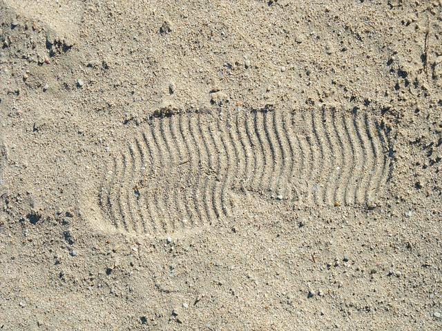 Fußabdrücke auf dem Mond